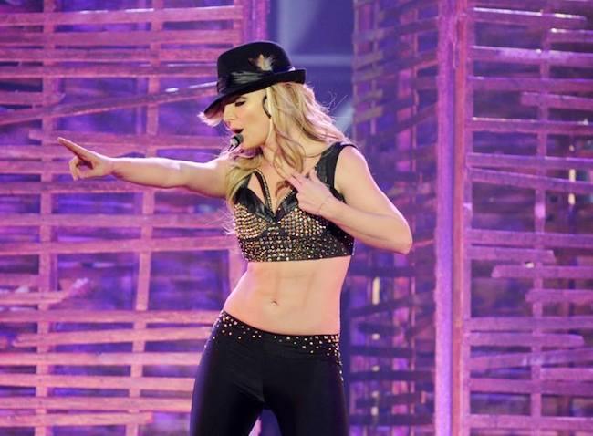 Britney Spears lors de son concert © Britney Spears via Facebook